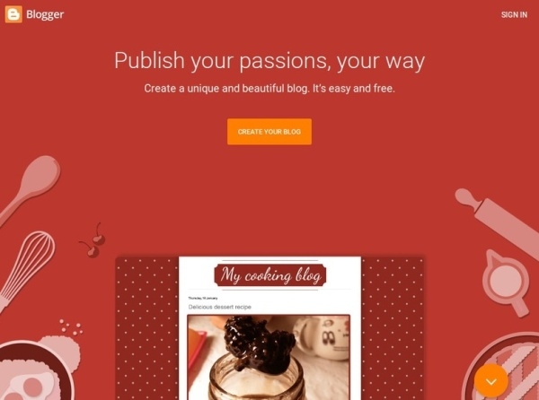 Create a blog for free on Blogger