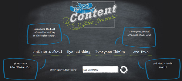 Protents Content Idea Generator