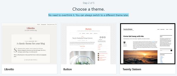 Choose a WordPress.com Theme