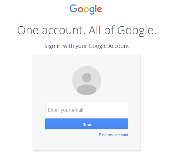Sign-in to Gmail Account
