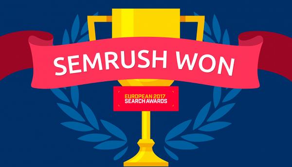 SEMrush Won European Search Awards for Best SEO Software