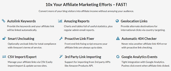 Thirsty Affiliates Features