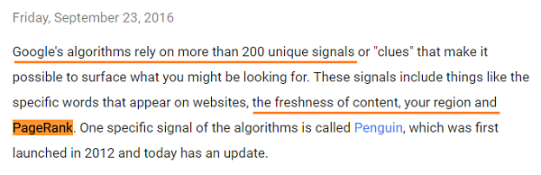 Google's PageRank is not dead